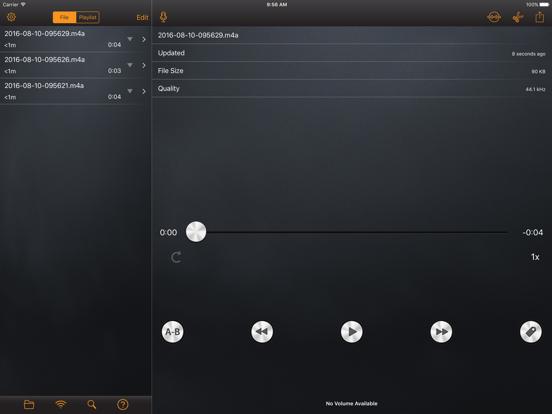 RecorderHQ - Audio recorder for cloud drive screenshot