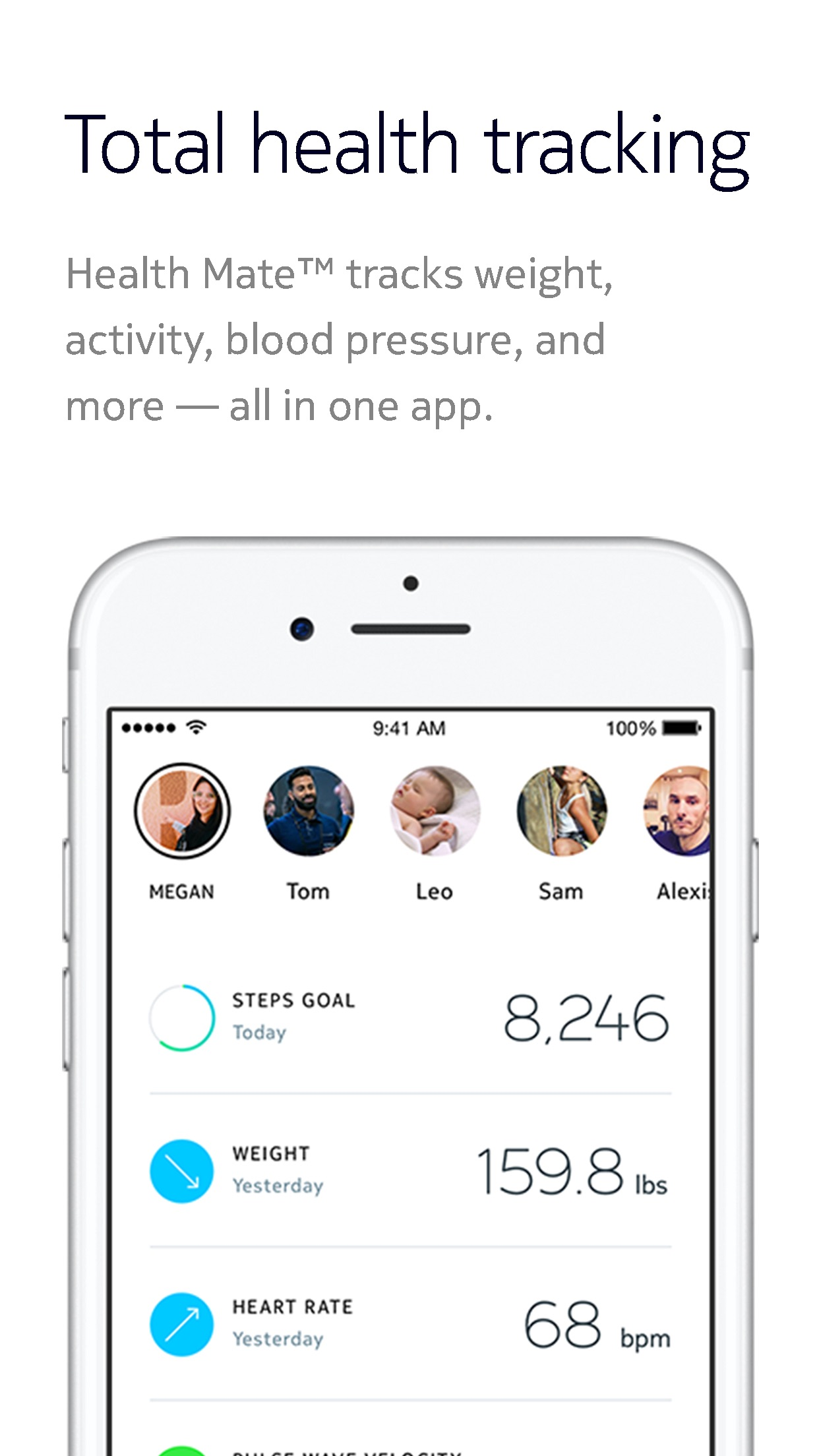 Screenshot do app Withings Health Mate