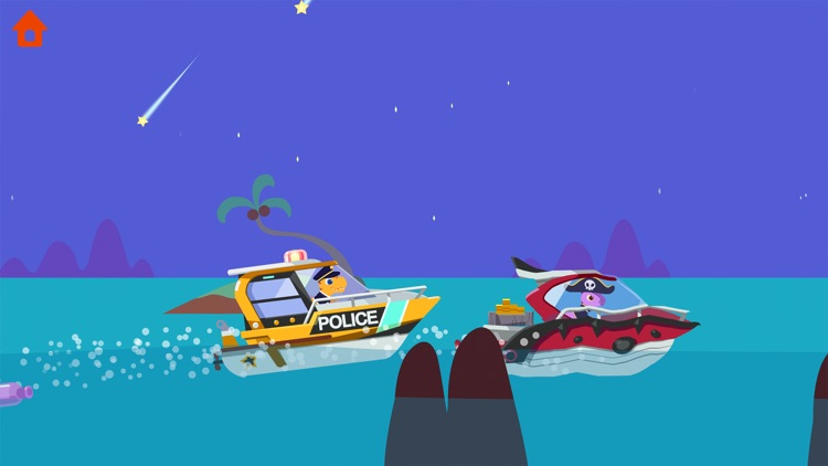 Dinosaur Police Car screenshot-8