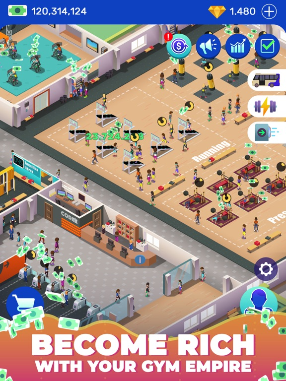Idle Fitness Gym Tycoon - Game screenshot 7