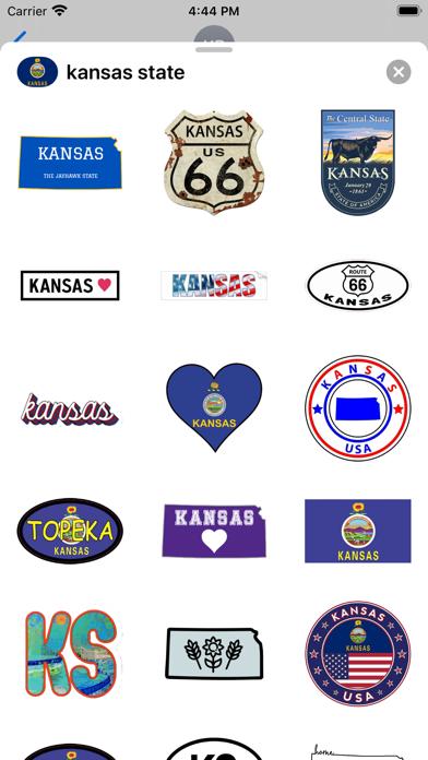 Kansas emoji - USA stickers screenshot 1