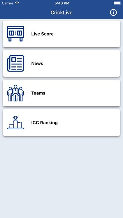 CrickLive - Live Cricket Score