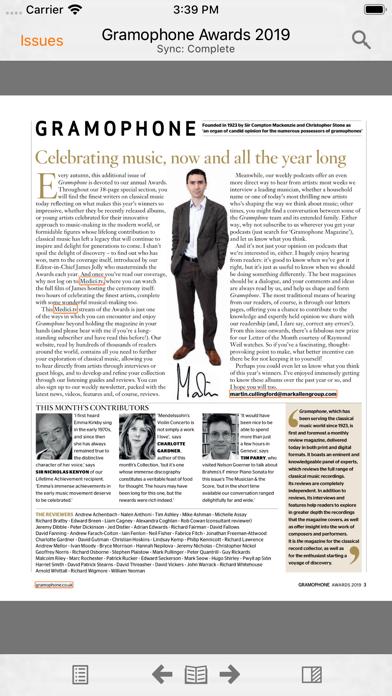 Gramophone Magazine review screenshots