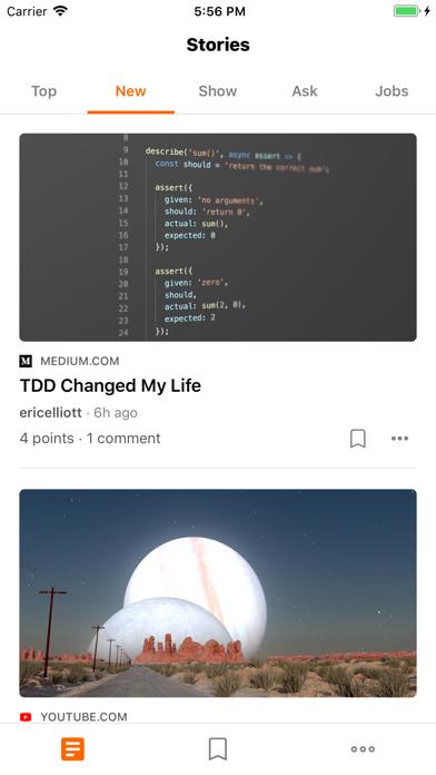 Hacker Feed screenshot two