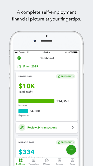 Screenshot for QuickBooks Self-Employed in United States App Store