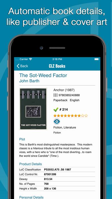 Screenshot #2 pour CLZ Books - Book Database