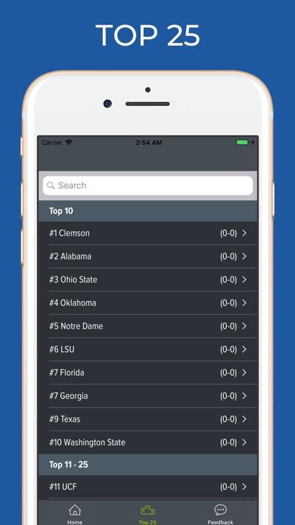 Kentucky Football Schedules screenshot-4