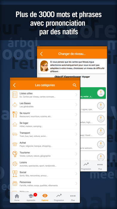 Screenshot for MosaLingua : cours de langues in Russian Federation App Store