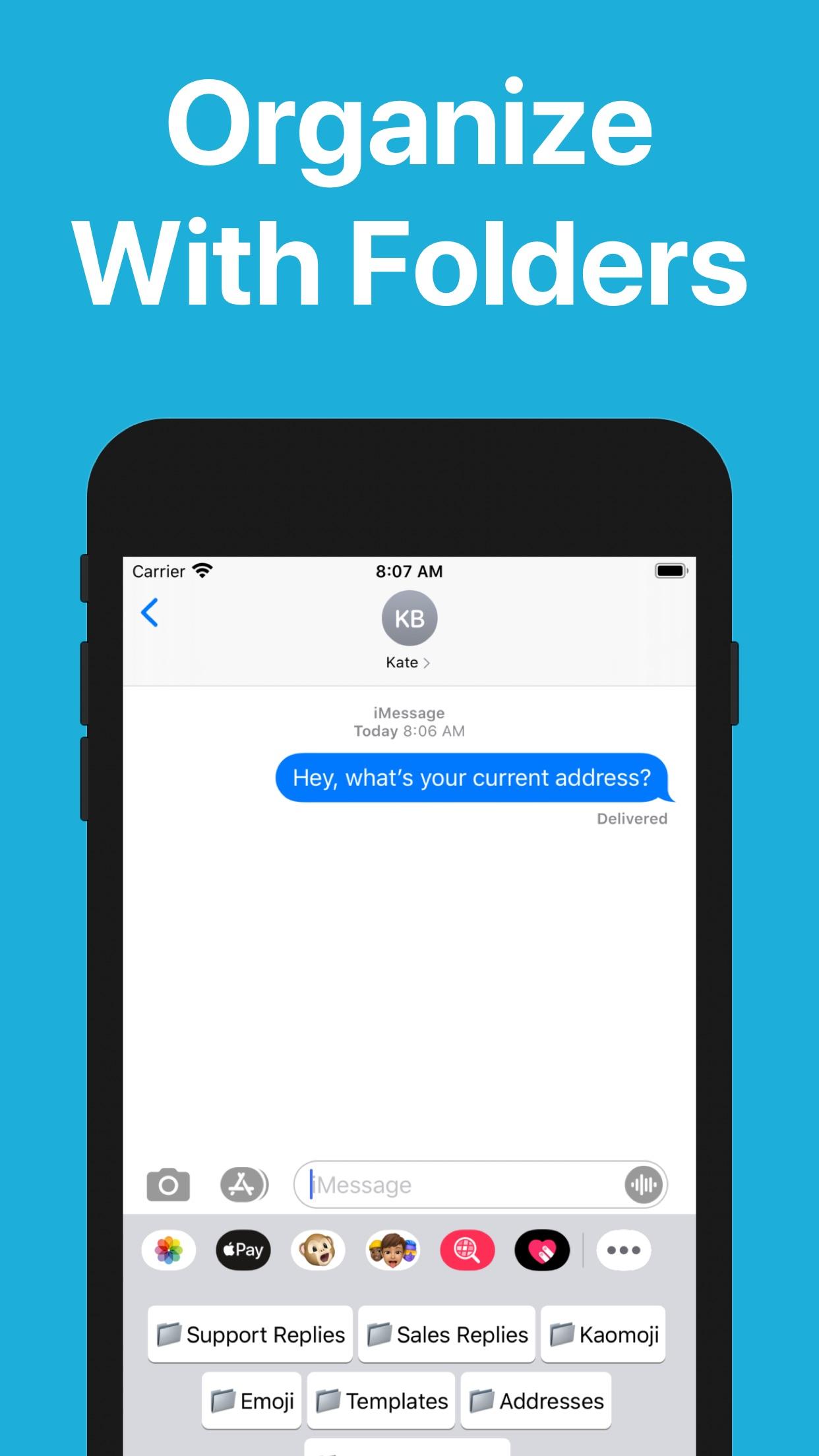 Screenshot do app WordBoard - Phrase Keyboard