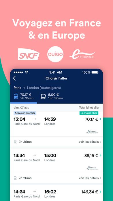 Screenshot #3 pour Trainline : Billets & horaires