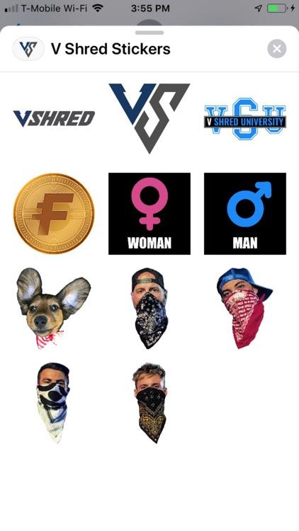 V Shred Stickers