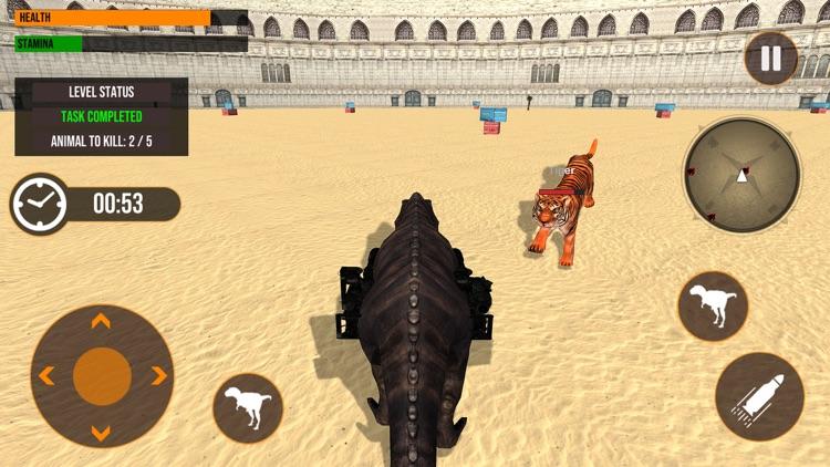Dinosaur in Fighting Arena