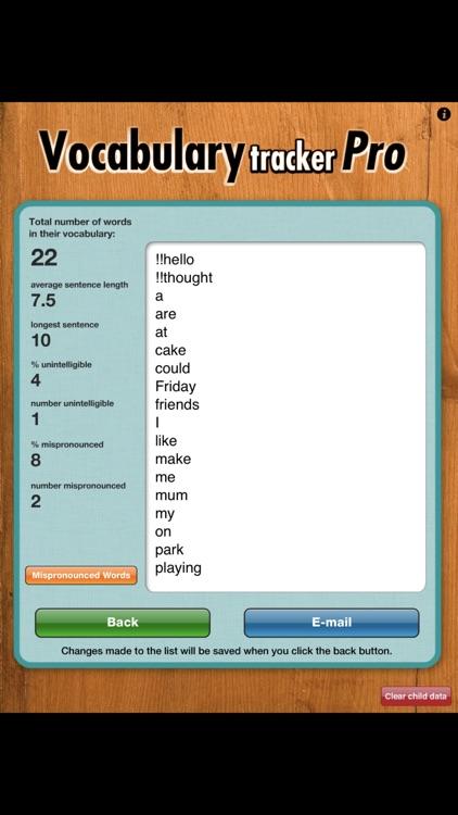 Vocabulary Tracker Pro