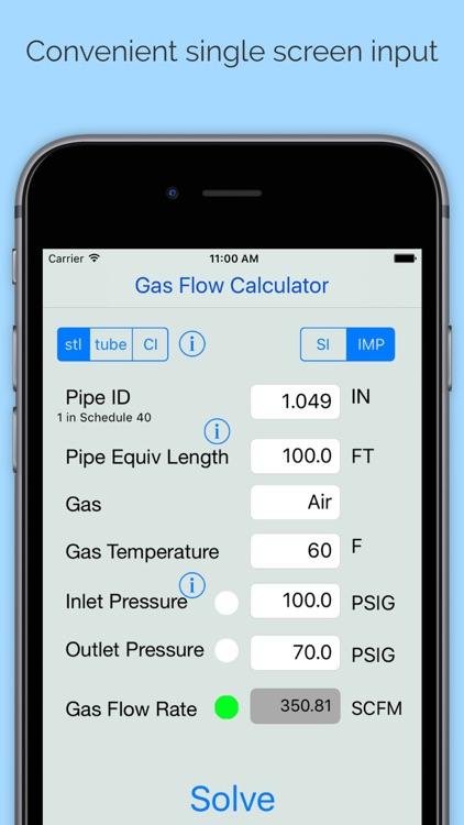 Compressible Gas Flow Calc