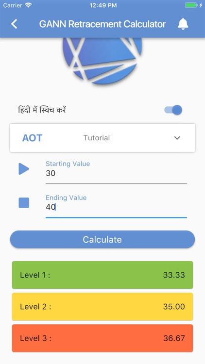 AOT Gann Square 9 Calculator by shyamal Sinha