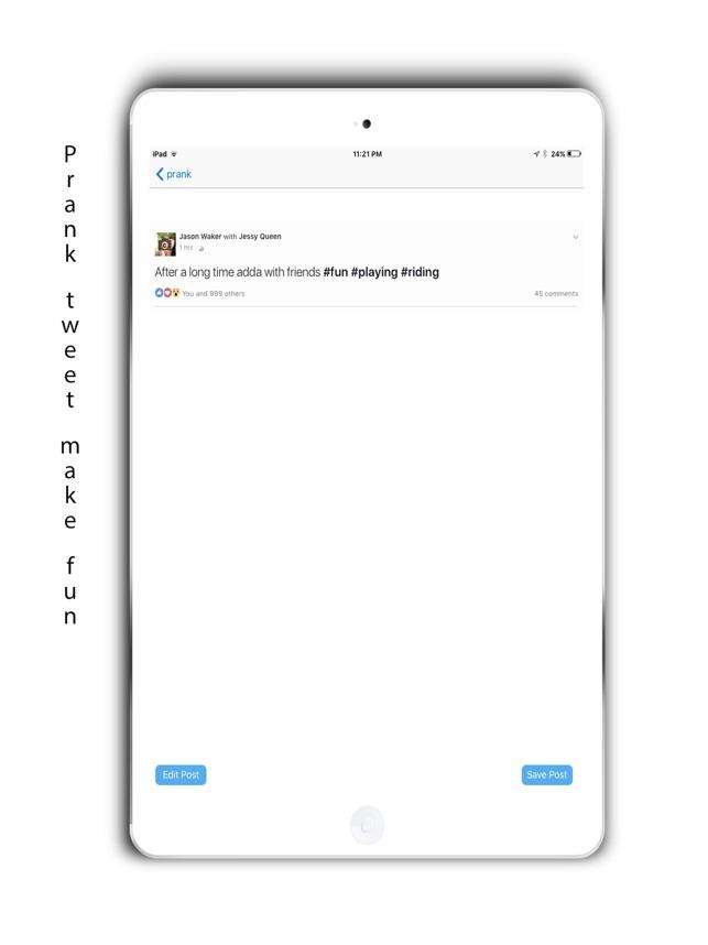 Prank tweet on the App Store