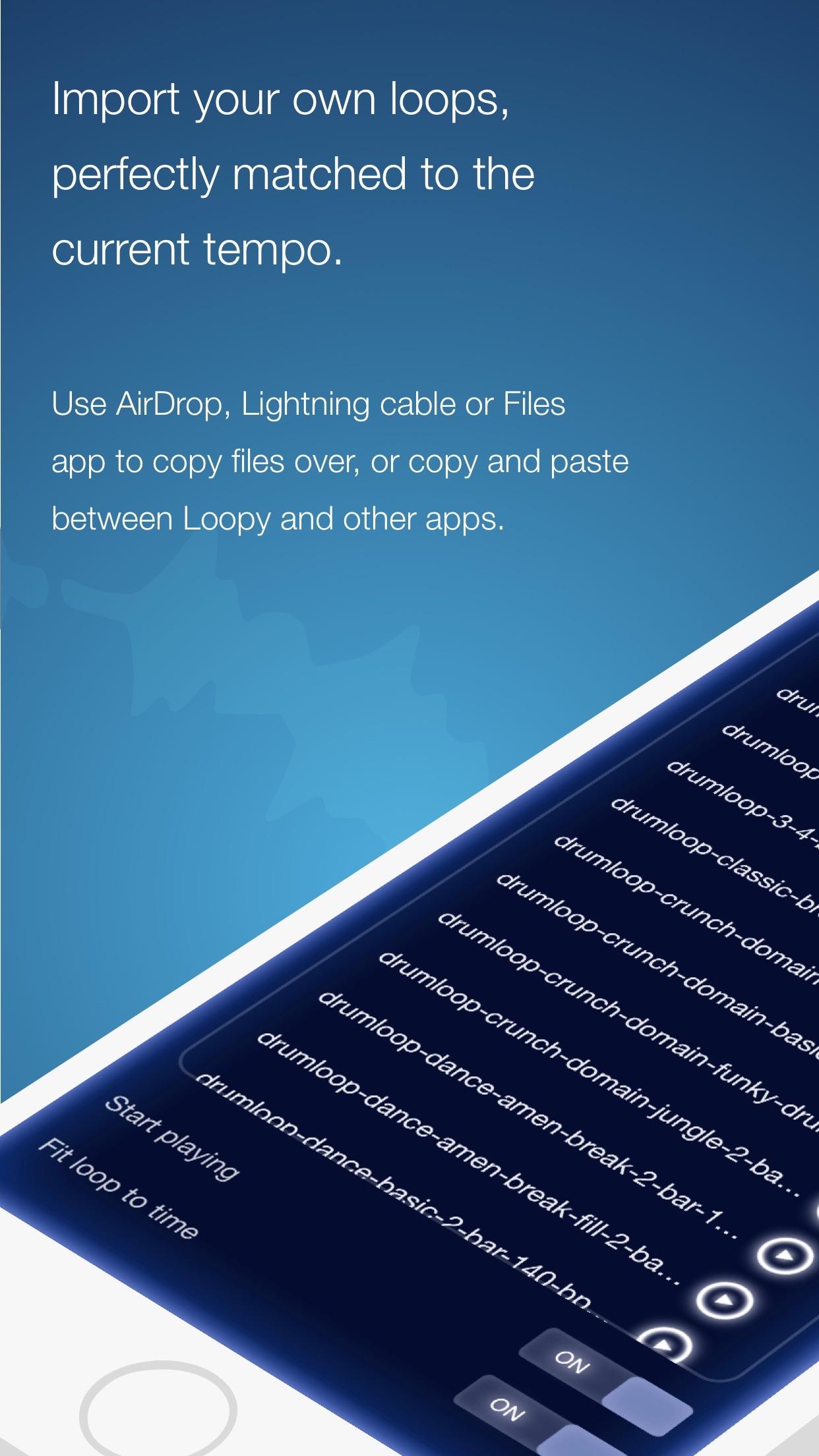Screenshot do app Loopy HD: Looper