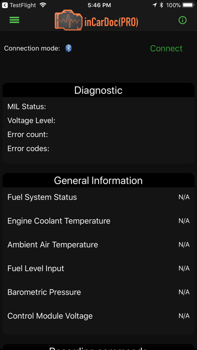 inCarDoc OBD2 ELM327 Scanner Screenshot