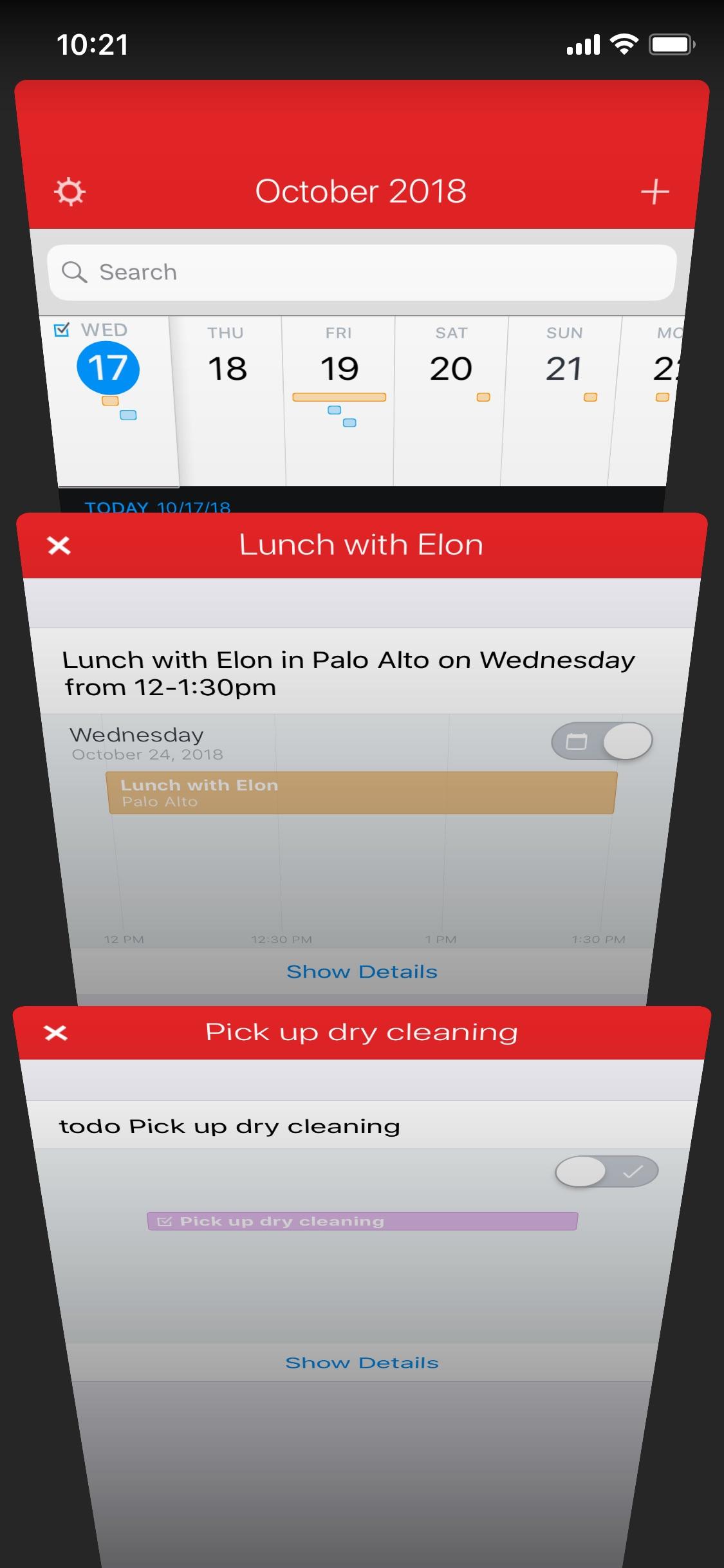 Screenshot do app Fantastical 2 for iPhone
