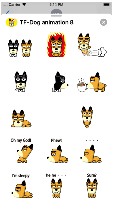 TF-Dog Animation 8 Stickers Screenshot