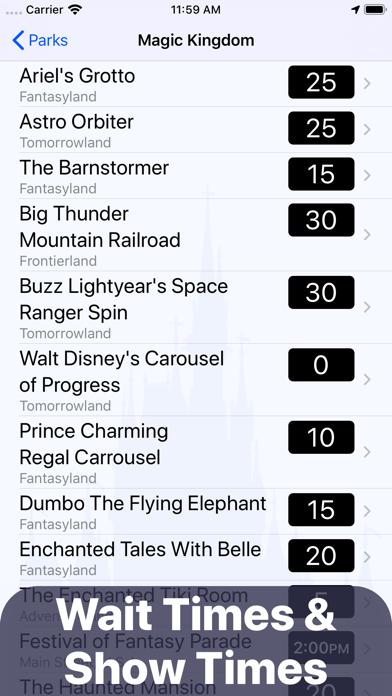 Magic Guide for Disney World - Wait Times, Dining & Maps screenshot