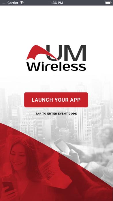 UMWireless Event Portal screenshot 1