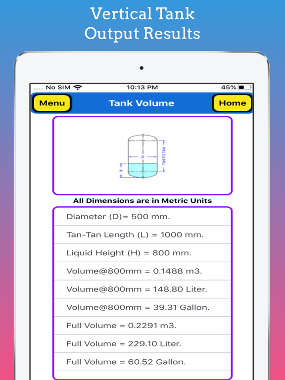 Tank Volume Calculator Pro screenshot 15