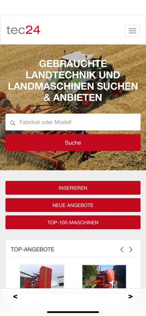tec24 on the app store  gebrauchte landmaschinen ubers iphone #11