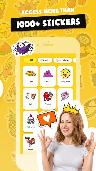 Stickers Funny of Meme & Emoji screenshot 2