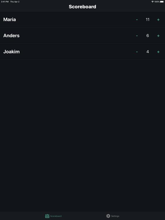 Ipad Screen Shot Scorekeeper 0