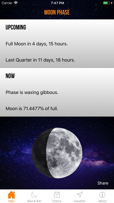 Screenshot for Moon Phase Calendar Plus in United States App Store