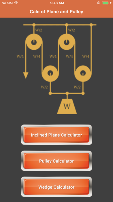 Calc of Plane and Pulley screenshot 2