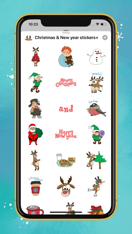 Christmas & New year stickers+
