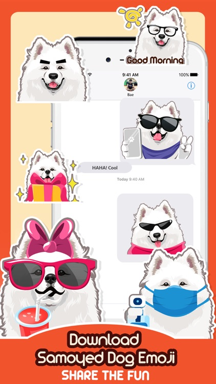 Samoyed Dog Emoji Sticker Pack screenshot-4