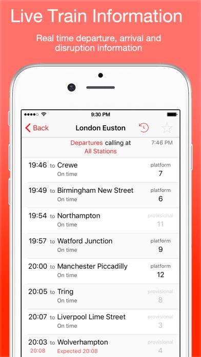 UK Live Trains screenshot one