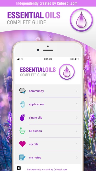 Essential Oils Guide: doTERRA Screenshots