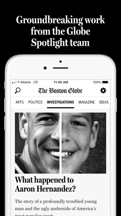 Screenshot for The Boston Globe in United States App Store