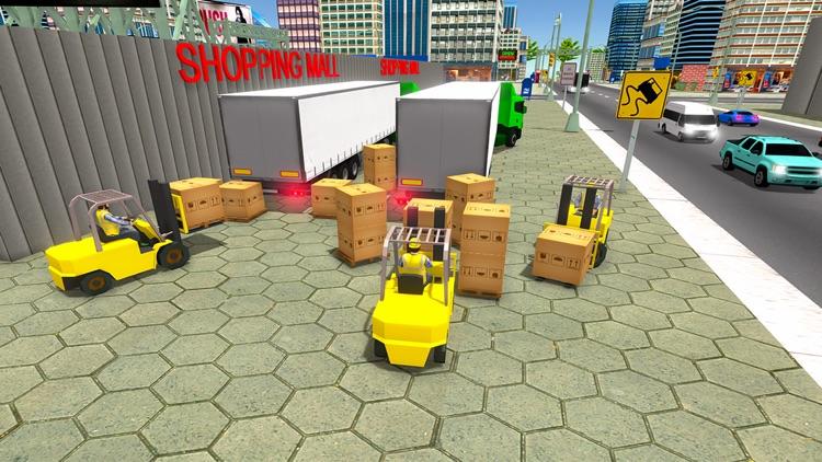 Mall Cargo Truck Forklift 3D screenshot-4