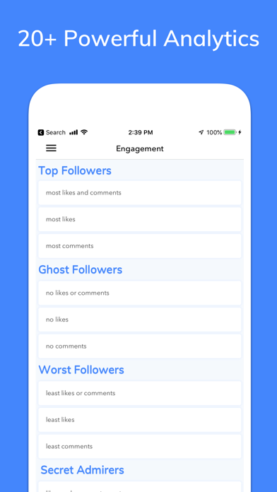 Insights+ for Instagram Screenshot