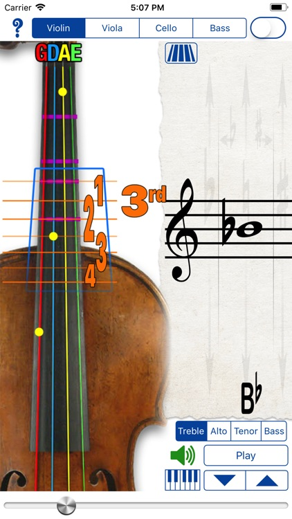Fingering Strings for iPhone