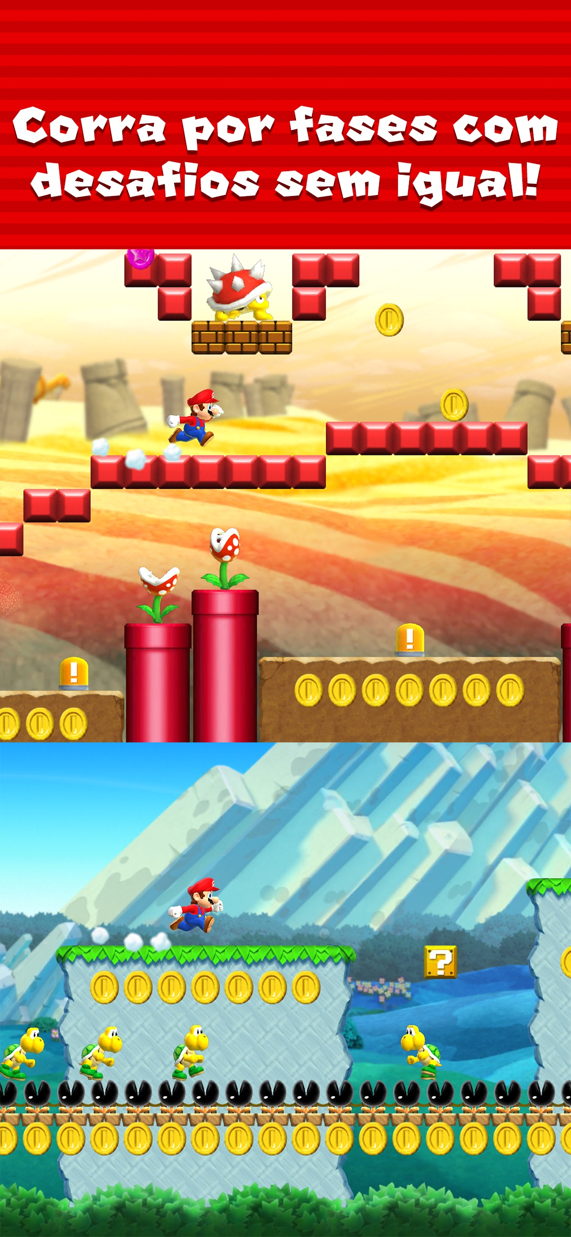 Screenshot do app Super Mario Run