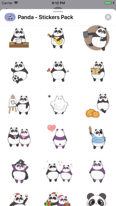 Screenshot for Panda - Stickers Pack in United States App Store