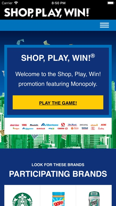Shop, Play, Win!® MONOPOLY app image