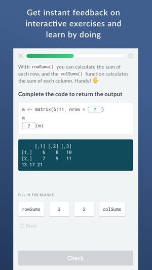 DataCamp: Learn R, Python, SQL on the App Store