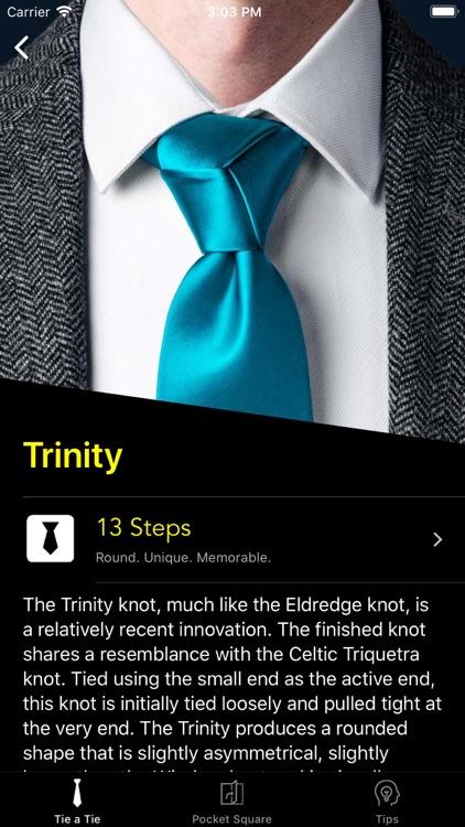 How To Tie a Tie • screenshot-3