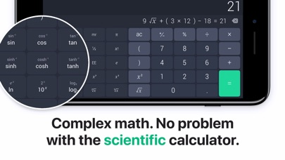 Screenshot for The Calculator. in United States App Store