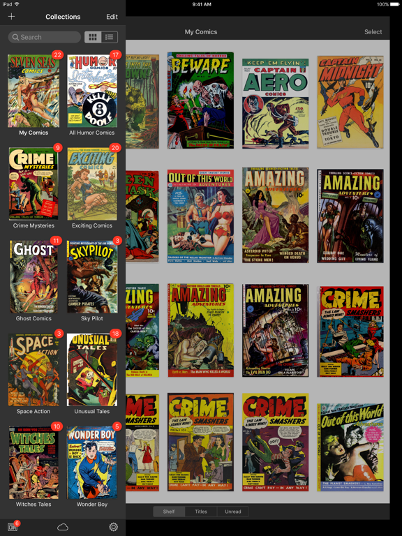 iComics - The Comic Reader for iPad and iPhone screenshot