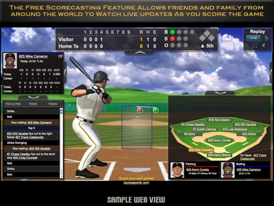 iScore Baseball / Softball Scorekeeper - Universal Version screenshot