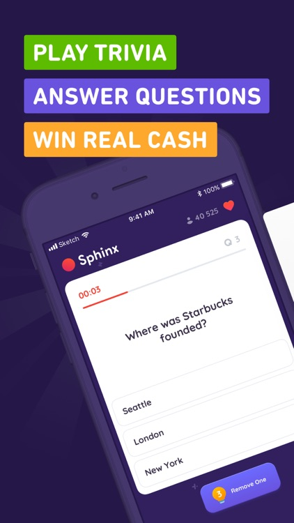 Sphinx Trivia - Win Real Cash by Atom Applications