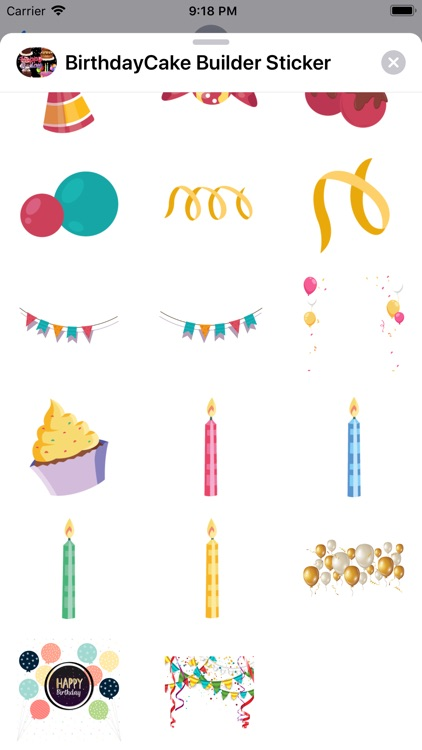 Birthday Cake Builder Sticker screenshot-7